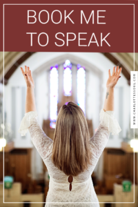 Book Charlotte to Speak at your events.