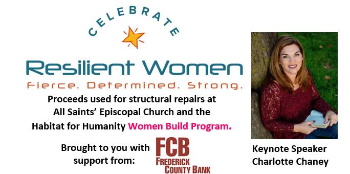 Celebrate Resilient Women Thursday, May 24 at 8 AM - 10:30 AM http://www.allsaintsmd.org/crw/